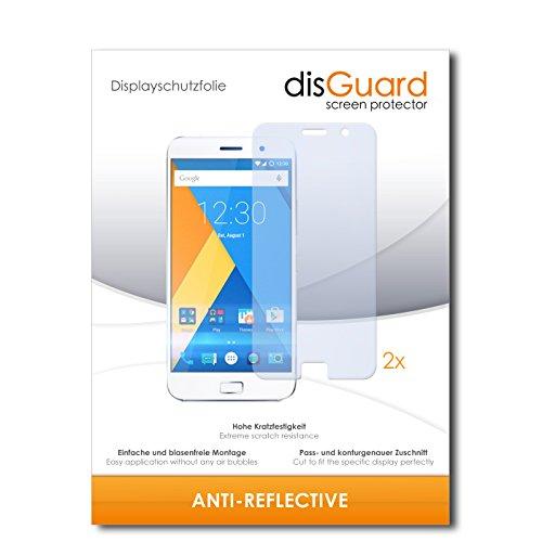 disGuard® Bildschirmschutzfolie [Anti-Reflex] kompatibel mit Lenovo Zuk Z1 [2 Stück] Entspiegelnd, Matt, Antireflektierend, Extrem Kratzfest, Anti-Fingerabdruck - Panzerglas Folie, Schutzfolie