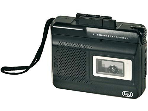 Trevi CR 410 Registratore a Cassetta con Speaker Interno e Microfono Integrato, Nero