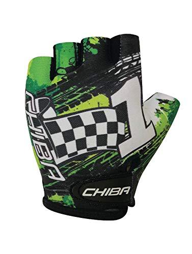 Chiba Kids Kinder Fahrrad Handschuhe kurz grün/schwarz 2020: Größe: S