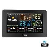 XMAGG Station Météo Intérieur Extérieur Connectée WiFi pour Smartphone Capteur sans Fil Thermomètre, Hygromètre,...