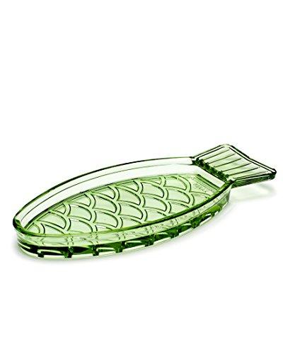 Serax - Schale - Servierschale - Fisch - transparent - Glas - grün - 23 x 10 cm - 1 Stück