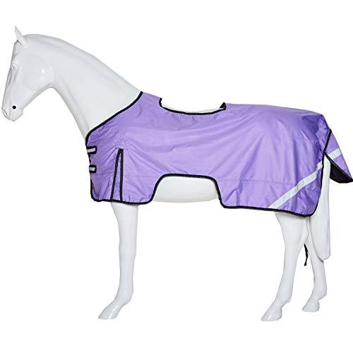 Boston - Telo di Sicurezza Impermeabile ad Alta visibilità, per Equitazione, Equestre, Lilla, 56