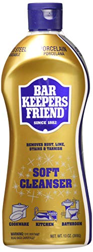 BAR KEEPERS FRIEND Soft Cleanser Premixed Formula | 13 Oz | (2 Pack)']