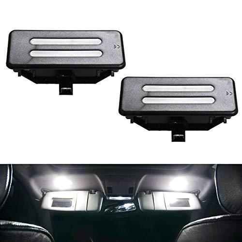 iJDMTOY Black Finish OEM-Fit 3W Full LED Sun Visor Vanity Mirror Lights Compatible With BMW E90/E92 3 Series, E60 5 Series, E84 X1, F25 X3, E70 X5, E71 X6