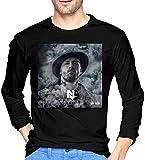 Photo de EYSKJ T- T-Shirt Manches Longues Homme Nicky Jam Comfortable Men's Tops Long Sleeve Tshirts Black