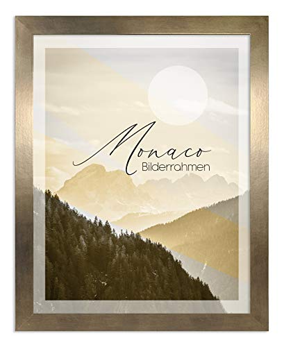 Bilderrahmen Monaco 40x50 cm in Bronze Dekor - Farbe und Größe wählbar