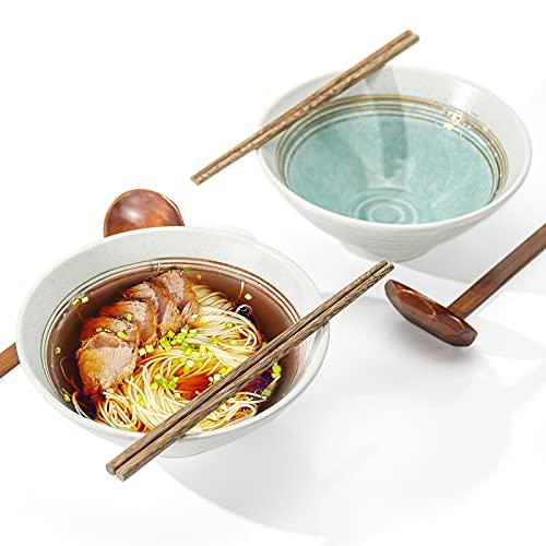 Wangxin Lot de 2 bols à soupe en céramique japonaise - 900 m