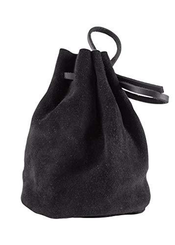 Battle-Merchant lederen tas, groot, zwart - geldkat portemonnee Viking - Middeleeuwen - LARP