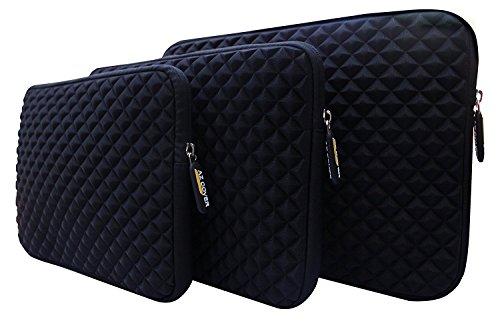 AZ-Cover 10.1-Inch Simplicity Stylish Diamond Foam Shock-Resistant Neoprene Sleeve (Black) For Tagital T10 Plus 10.1' Octa Core Tablet PC + One Capacitive Stylus Pen
