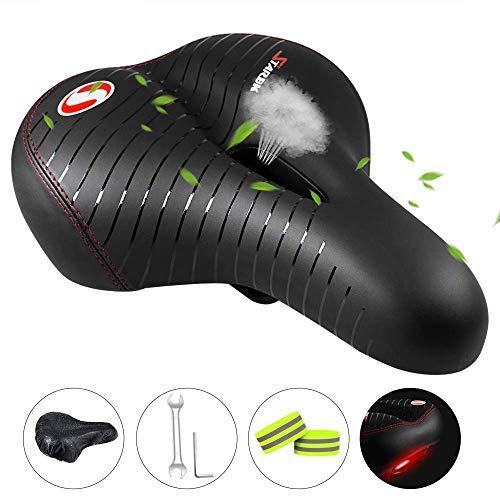 MMTX Fahrradsattel Fahrrad Gelsattel, Komfort Fahrradsitze mit Memory Foam atmungsaktiven weichen Fahrradkissensitzen für Damen und Herren MTB Mountainbike/Heimtrainer/Rennrad