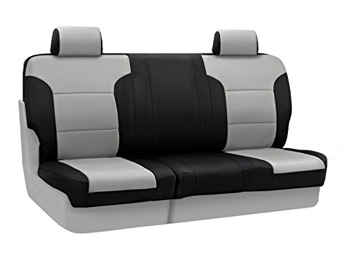 Coverking Custom Fit Seat Cover for Ford F-150/250/350 Truck - (Neosupreme, Gray/Black Side) :