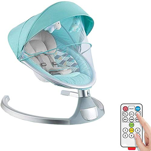 Review LJHHH Electric Baby Swing Bouncers Chair Rocker Seat,Automatic Cradle Bed with Soothing Music...