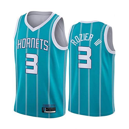 CYYX NBA Men's Jersey, Charlotte Hornets # 3 Terry Rozier Classic Jersey, Tejido Fresco Transpirable, Ventilador de Baloncesto Unisex Sin Mangas Sports Chaleco (3 Estilos),C,XL