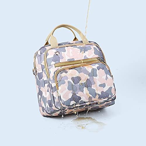 MiduoHu Bolso Cambiador de Pañales para Bebé de Código Pequeño Multifunción Mochila para Mamá Impresión de Moda delicadopara Mamá/Papá Viaje con Bebé (Color : Blue)