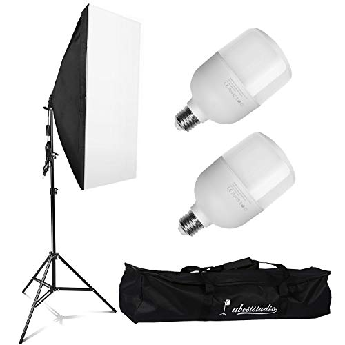 YISITONG Softbox Lighting Photo Studio Kit 2x 25W LED Continuous Light Bulb...