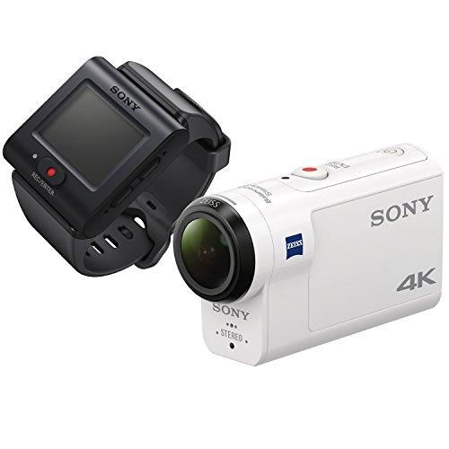 ソニー ウエアラブルカメラ アクションカム 4K+空間光学ブレ補正搭載モデル(FDR-X3000R) ライブビューリモ...