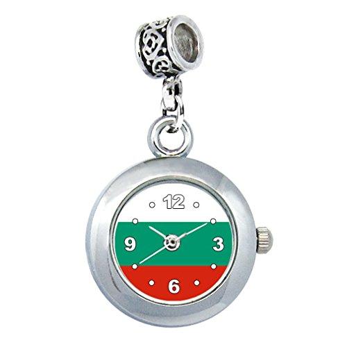 Timest - Bulgarien Länder Flaggen Uhr für Armbänder und Ketten Rund Analog Quarz EBA0224