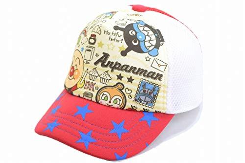 NOBRAND アンパンマン キャップ AN72850 457008 帽子 キッズ 子供 なりきり キャラクター ネット通販 春夏 (約53cm, レッド)