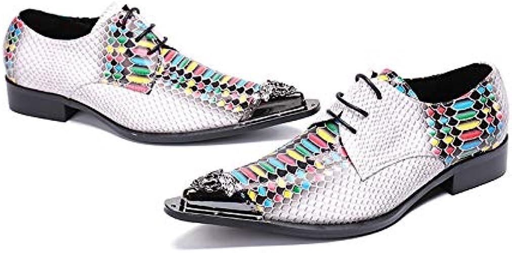 LOVDRAM Chaussures en Cuir pour Hommes Styliste MultiCouleure en Cuir Véritable Hommes Oxfords Bureau Chaussures Chaussures De Mariée De Mariage Chaussures à Lacets des Hommes d'affaires Chaussures