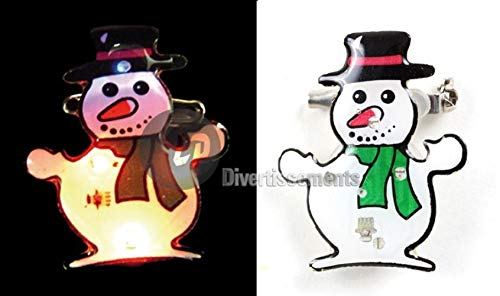 COOLMP Fiesta Palace - Badge LED Bonhomme De Neige Bonnet