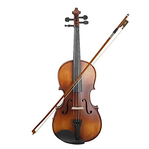 violín Picea De Viola Eléctrica con La Maleta De Limpieza De Lazo De Lazo para Un Niño para Adultos Principiantes