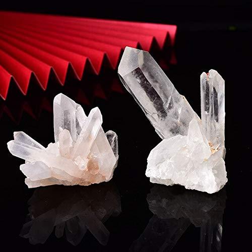 MANGE 1 pieza natural de cuarzo crudo blanco claro cristal racimo piedras de cristal punto espécimen decoración del hogar cristales crudos minerales
