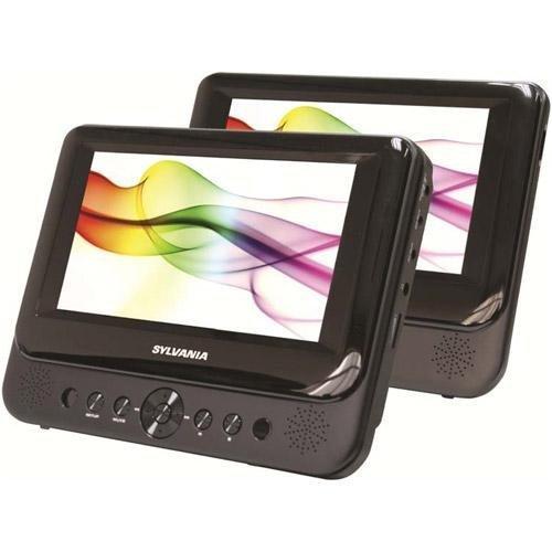 Why Choose Sylvania 7 Dual Screen Portable DVD Player, Black - SDVD8716-COM by Sylvania