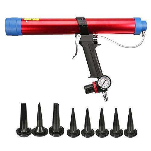 Guo 600 ml Glaskleber Kartuschenpistolen Air Rubber Pneumatische Kartuschenpistole Pistole mit Kolben Werkzeug Kartuschenglas Silikonwerkzeuge