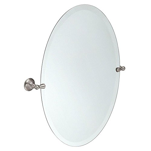 Moen DN6892BN Sage 26-Inch x 23-Inch Frameless Pivoting Bathroom Tilting Mirror, Brushed -