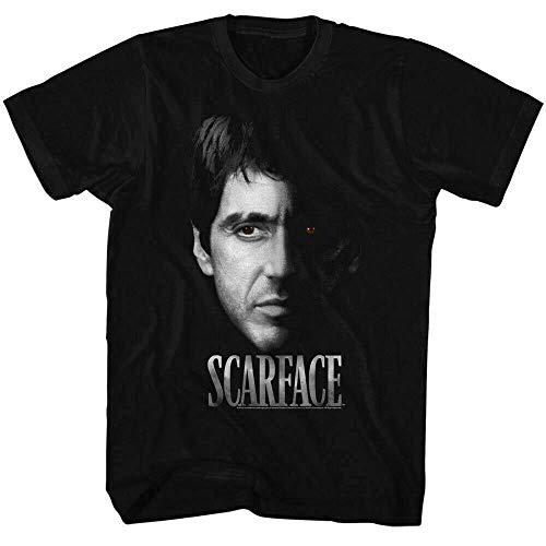 Scarface Red Eye T Shirt Licensed Mafia Al Pacino Montana Movie BlackBlackL