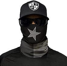 Salt Armour Face Mask Shield Protective Balaclava Bandana Microfiber Tube Neck Warmer (Blackout Texas State Flag)