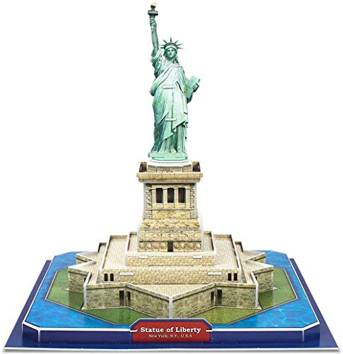 Aokshen 3D Puzzle Nueva York Estatua de la Libertad Arquitectura Modelo de construcción Kit de regalo de recuerdo para adultos y niños, rompecabezas 40 piezas