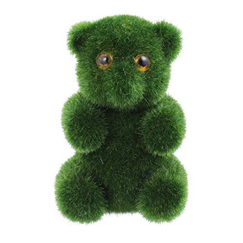 Amosfun Bolas de Musgo Artificial Verde Piedras Decorativas en Forma de Oso para Acuarios Jarrones Decoración de Mesa Maceta Decoración de Terrario (Verde)