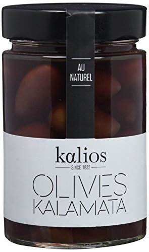 Kalios Aceitunas Kalamata al Natural - 4 Paquetes de 1 x 310 gr - Total: 1240 gr