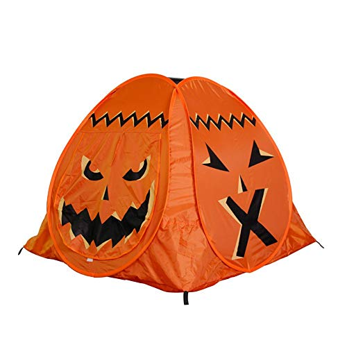 Iswell Halloween Spielzelt Kids Pumpkin Face Printed Folding Interaktives Spielzeug Indoor Outdoor CampingTravel Angeln Backpacking Zelte