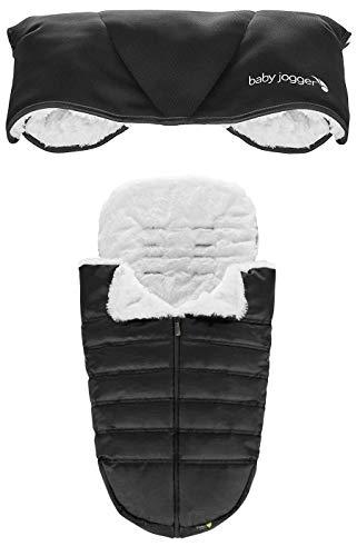 Baby Jogger Pushchair Accessories   Footmuff & Handmuff   Winter Bundle   for City Mini 2, City Mini GT2, City Tour 2 Pushchairs & More   Black