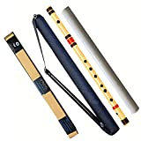 KRABERS bamboo flute/bansuri C-sharp 18.5 inch with wooden cork well polished well tune (free with pvc carry bag)