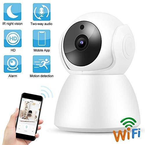 720P WIFI babycamera, huisbeveiliging PTZ 2-weg intercom babyverzorgingsmonitor WiFi IP babycamera ondersteuning IR-CUT / bewegingsdetectie / nachtzicht / TF-kaart (EU)