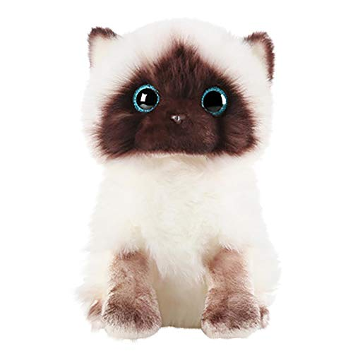 LISS 2021 Plush Siamese Cat Dolls Stuffed Animals Toys Simulation Siamese Cat Cute Sequins,A Beautiful Gift for The Children (Multi, 10.23IN)