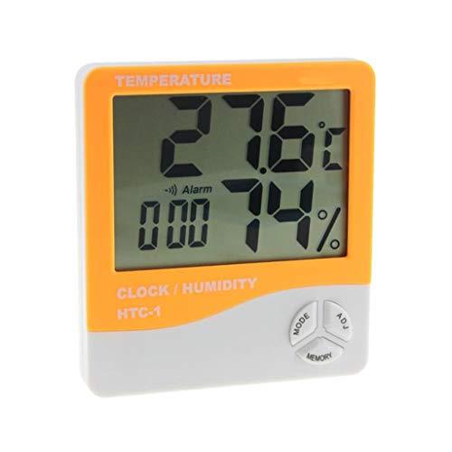 Surveillance météo Horloges ° C / ° F LCD Thermomètre Numérique Hygromètre Humidité Compteur Alarmes Horloges Salle Intérieur/Extérieur Cuisine Station Météo