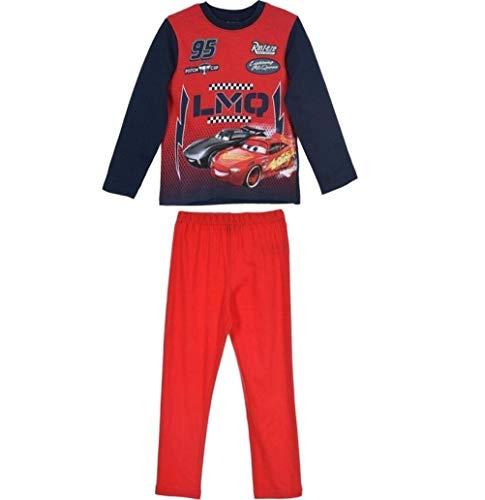 Cars Disney 3 Schlafanzug Jungen Lang Lightning McQueen (122-128, Rot-Blau)