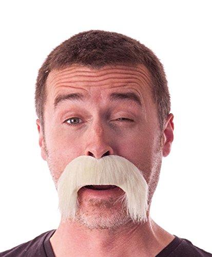 Party Pro Moustache épaisse tombante blonde