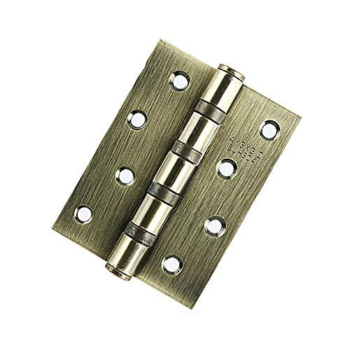 KCCCC Bisagra de la Puerta Butt muda bisagras abatibles Inicio Accesorios de Muebles Bisagra de Puerta Multi-Color Opcional 4 Piezas de 4x3 Pulgadas (con 32 Tornillos) para Puertas Internas