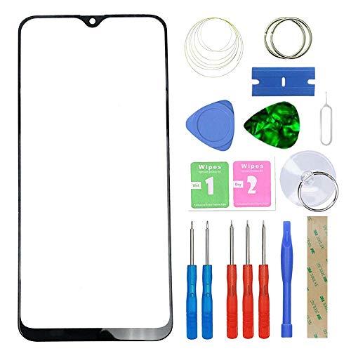 MovTEK Pantalla Repuesto Cristal Tactil Frontal Original para Samsung Galaxy A20 2019 A205/ A30s A307 6.4' con Kit de Herramientas y Adhesivo 3M Negro