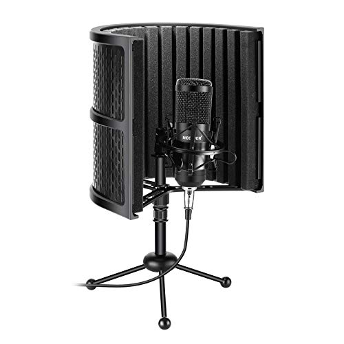 Neewer USB Microphone Recording Kit 192KHz/24Bit Plug&Play Cardioid Mic with Microphone Isolation Shield, Tripod Stand, Sound Absorbing Foam for Karaoke/YouTube/Gaming Record/Podcasts/Singing etc