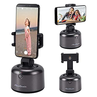 VINMEN Smart Selfie Stick, 360 Degrees Rotation Auto Shooting Gimbal Face Object Tracking Cell Phone Camera Mount Holder Robot Cameraman Hands Free Live Streaming Video Recording Volg Shooting by VINMEN