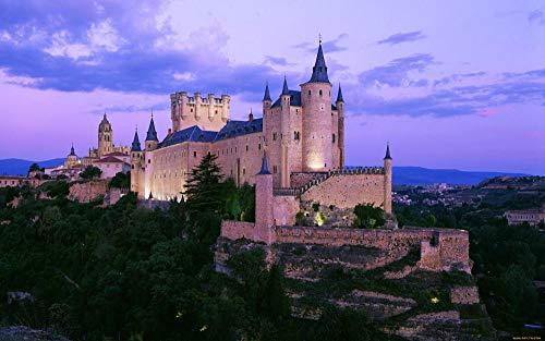 Puzzles para niños Rompecabezas de 300 Piezas Castillo Europeo 300 Puzzles de Madera Descompresión para niños Adultos Adolescentes