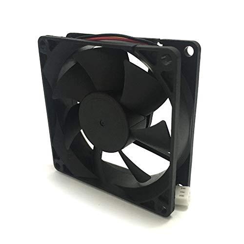 OLDJTK F8025 80mm Ordenador Ventilador Enfriador Ventilador de Escritorio de bajo Ruido 12V Extintor for Caja de la PC de la Fuente/Potencia (Blade Color : Black, Blade Quantity : 7)