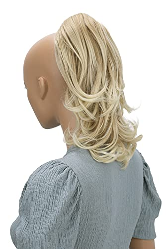PRETTY SHOP Mixed Blonde Wavy Voluminous Ponytail Hair Piece