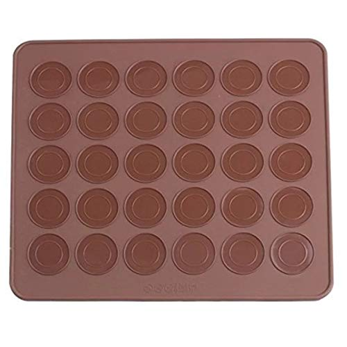 Backausrüstung Antihaft Backform Set Macaroon Kit Macaron Silikon Matte 48 Kapazität Makaron Pot Kuchen Dekorieren Lieferungen Backset (Farbe : Macaron Mat)